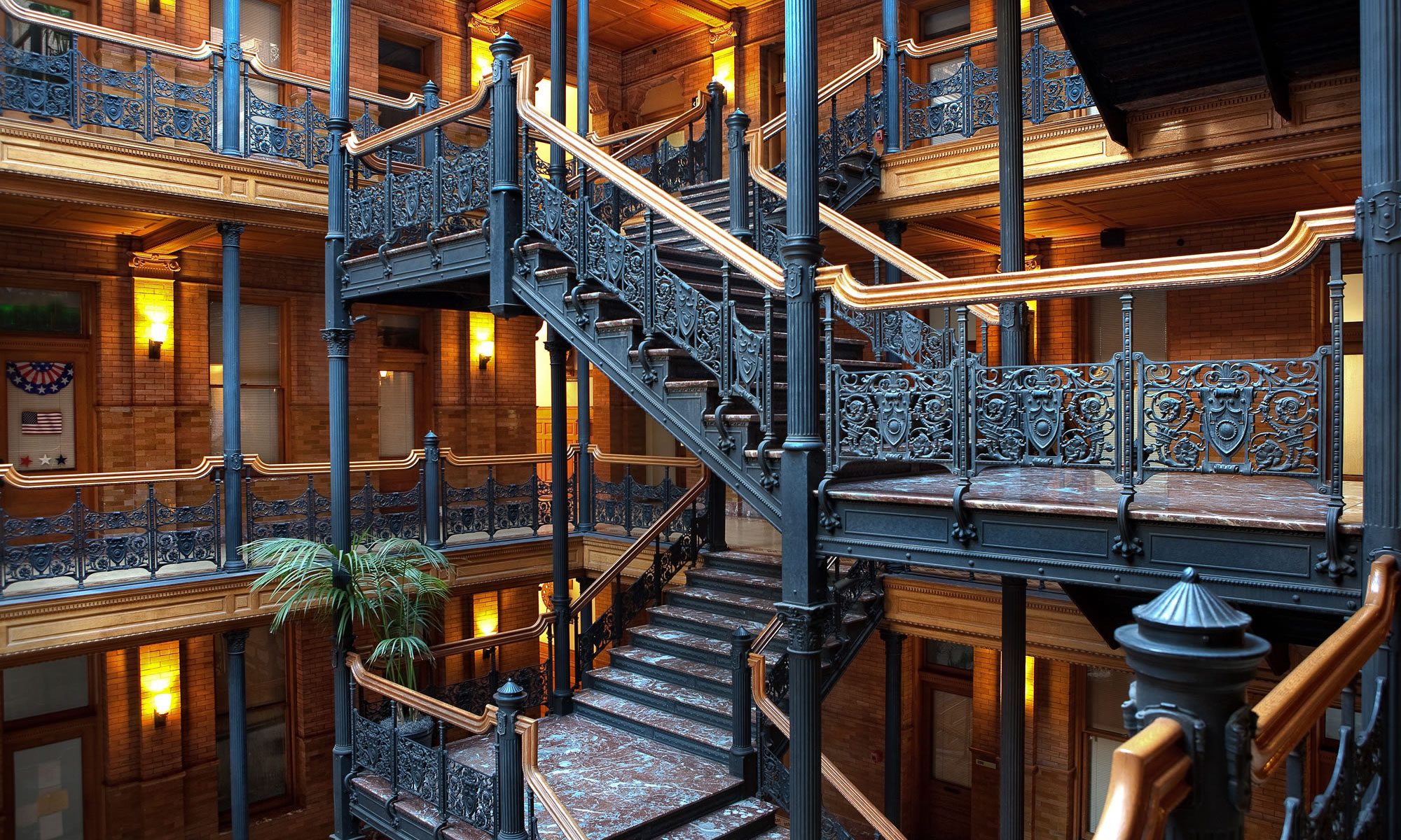 Bradbury building staircase photo